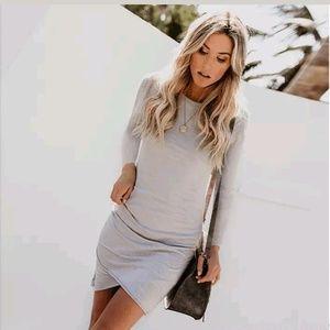 Dresses & Skirts - Ruched Tshirt BodyCon Dress
